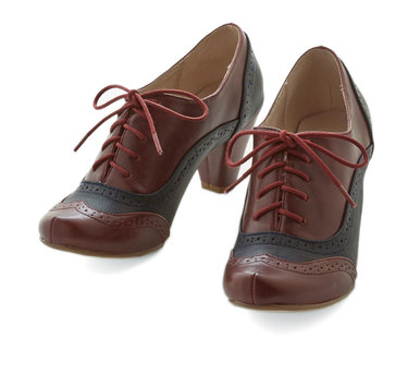 Cause for Collaboration Heel in Burgundy {Modcloth}