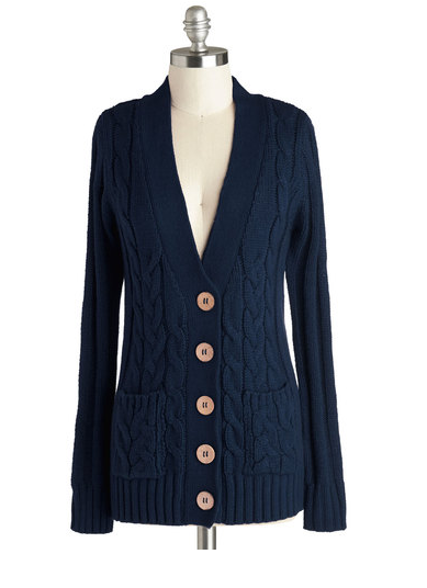 Your Fireside of the Story Cardigan in Navy {Modcloth}