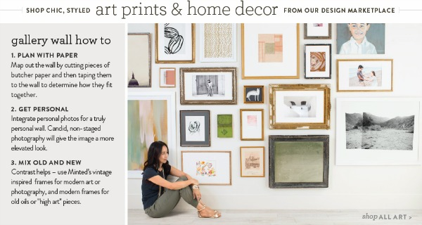 Shop Chic Styled Art Prints and Home Decor {Minted}