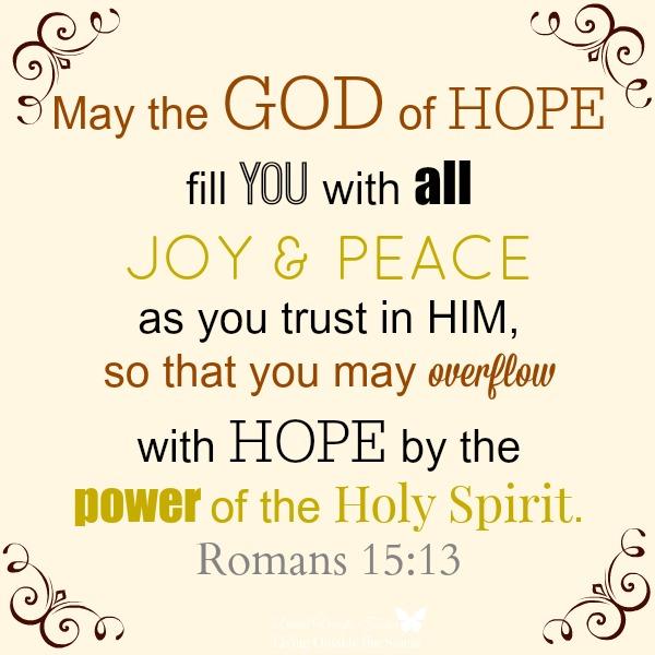 The God of Hope {Living Outside the Stacks}
