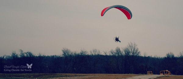 Paraglider with Motor {Living Outside the Stacks} #OurProject52