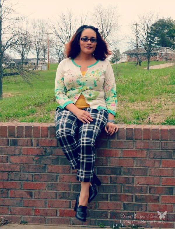 Charlotte Tarantola Sweater Old Navy Pixie Pants and Black High Heeled Loafers {Living Outside the Stacks}