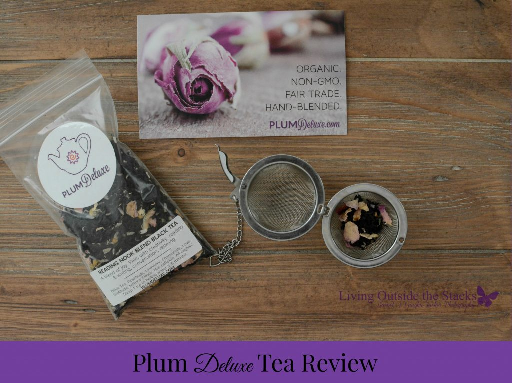 Plum Deluxe Tea Review {living outside the stacks}