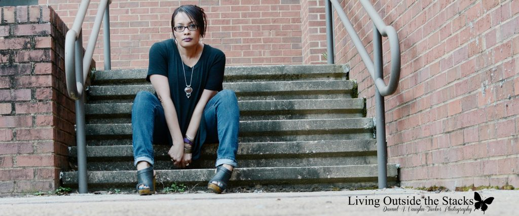Black Tunic Jeggings and Black Wedges {living outside the stacks}
