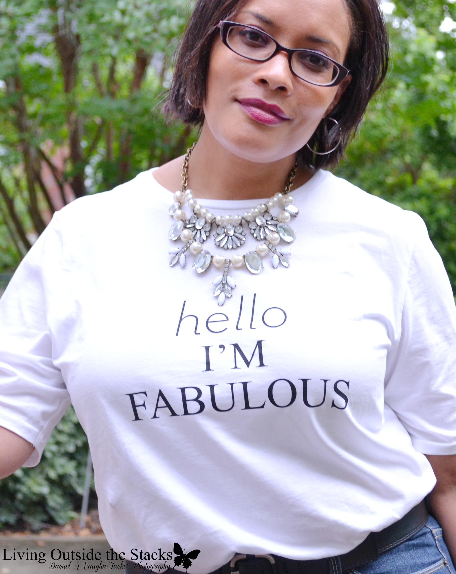 Hello Im Fabulous Tee and Jeans and Black Oxfords {living outside the stacks} #hellochicos