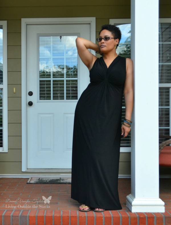 Black Maxi Dress and Gold Sseko Sandals {living outside the stacks}