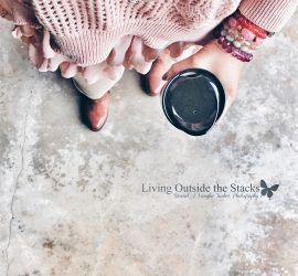 Pink Chiffon Sweater Tan Leggings and Brown Boots {living outside the stacks} #livingoutsidethestacks