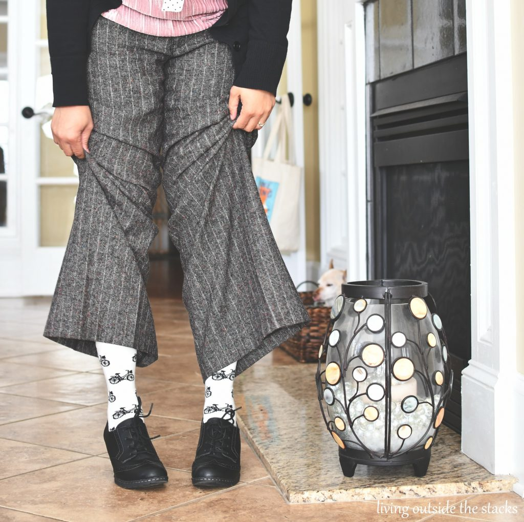 Velvet Polka Dots and Tweed {living outside the stacks}