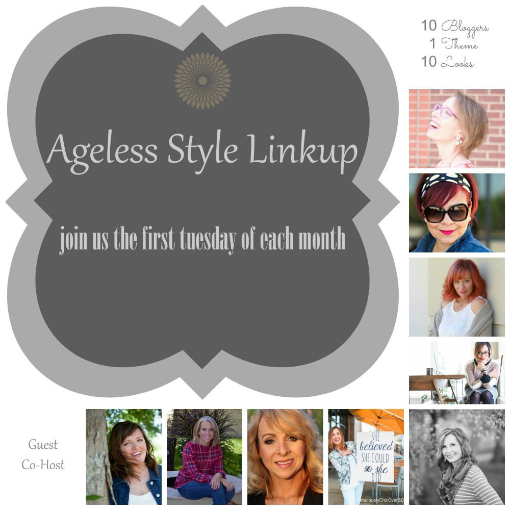 Ageless Style Linkup Badge #AgelessStyleLinkup #FashionBlogger #FashionOverForty
