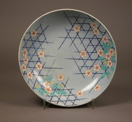 Large Dish with Cherry Blossoms