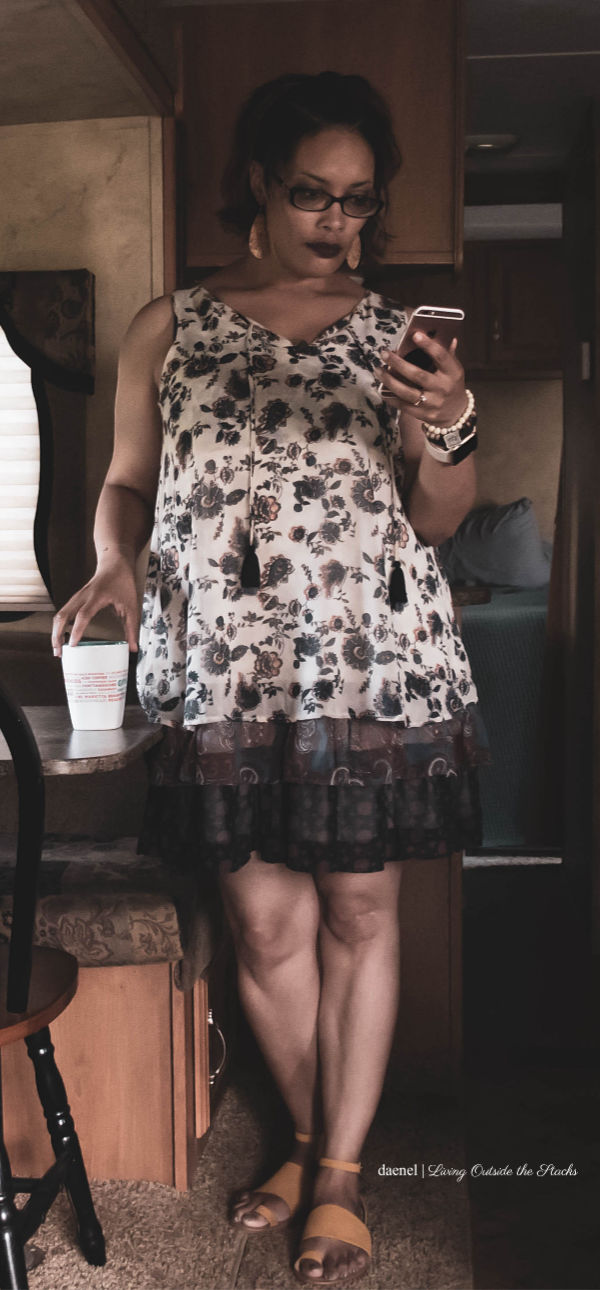 Style Imitating Art Floral Dress and Mustard Sandals {living outside the stacks}