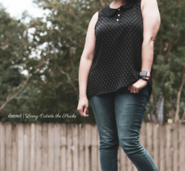 Black Polka Dot Blouse Skinny Jeans and Ankle Wrap Ballet Flats {living outside the stacks}