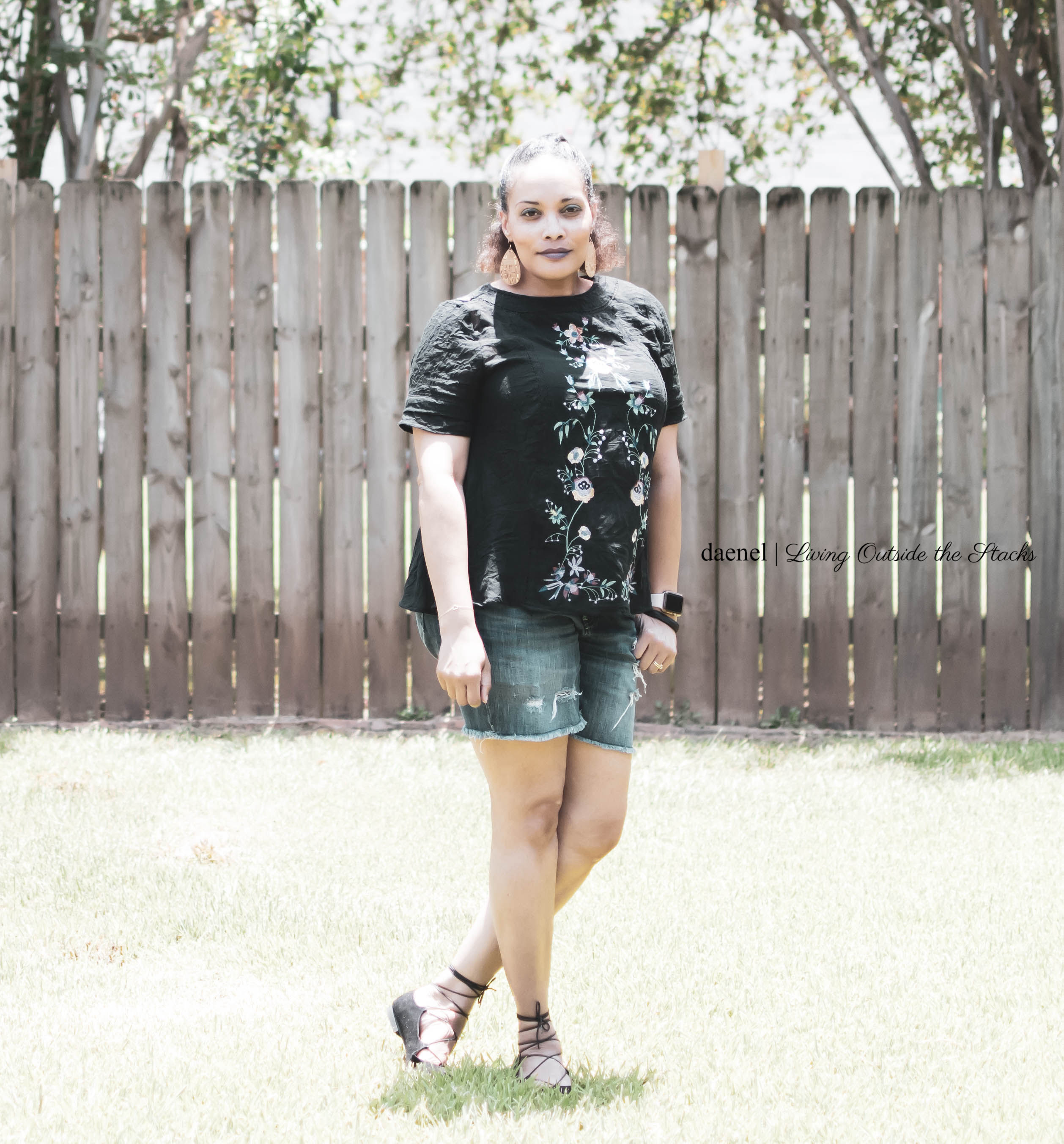 Embroidered Top and Loved In Jeans {living outside the stacks}