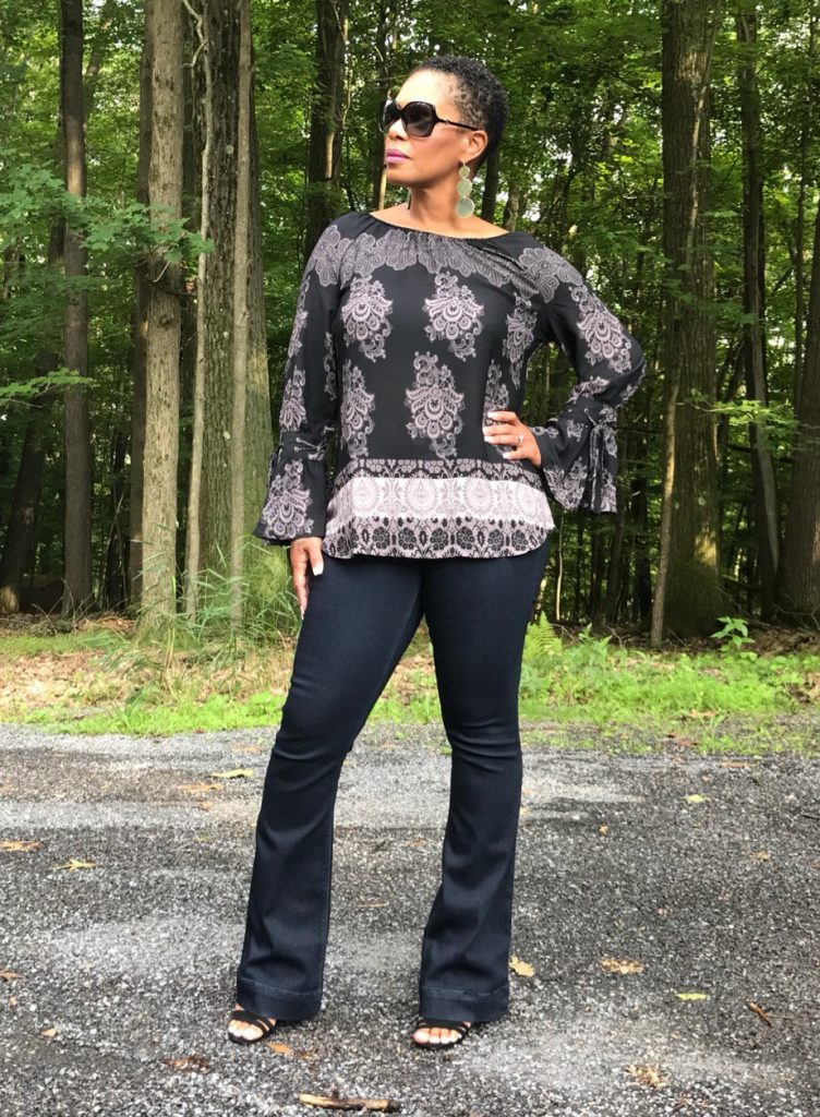 Heidi Wearing Laurie Felt Top with Flare Leg Jeans {fashion mama pro} #NiceJeans