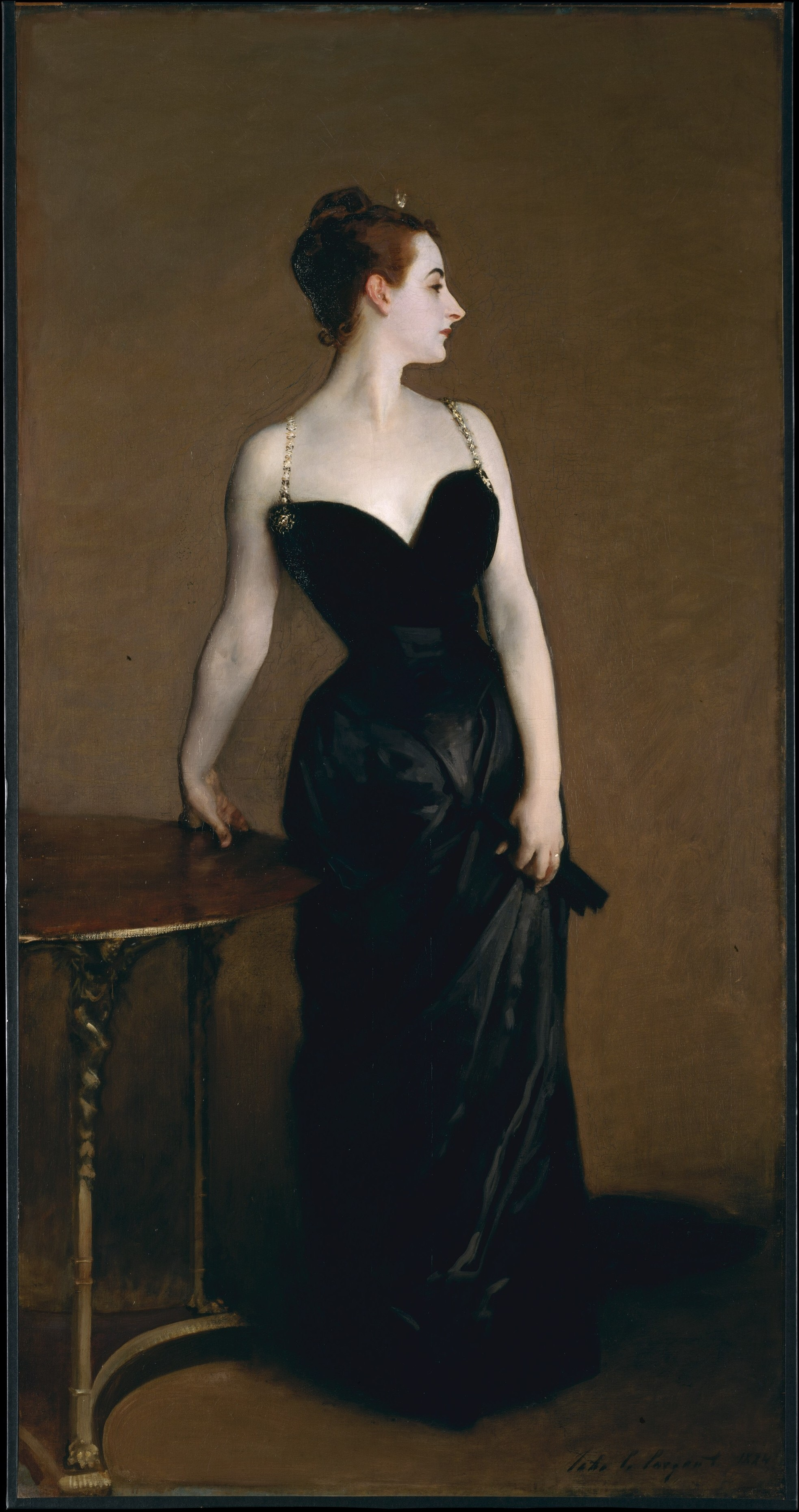 Madam X by John Singer Sargent {Image from The Met Public Access}