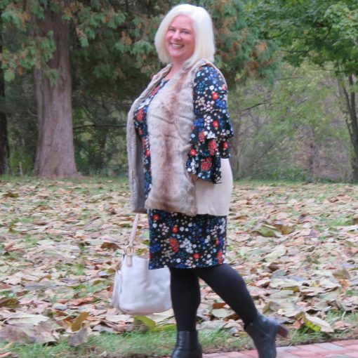 Julia {When the Girls Rule} Ageless Style Linkup Flower Power