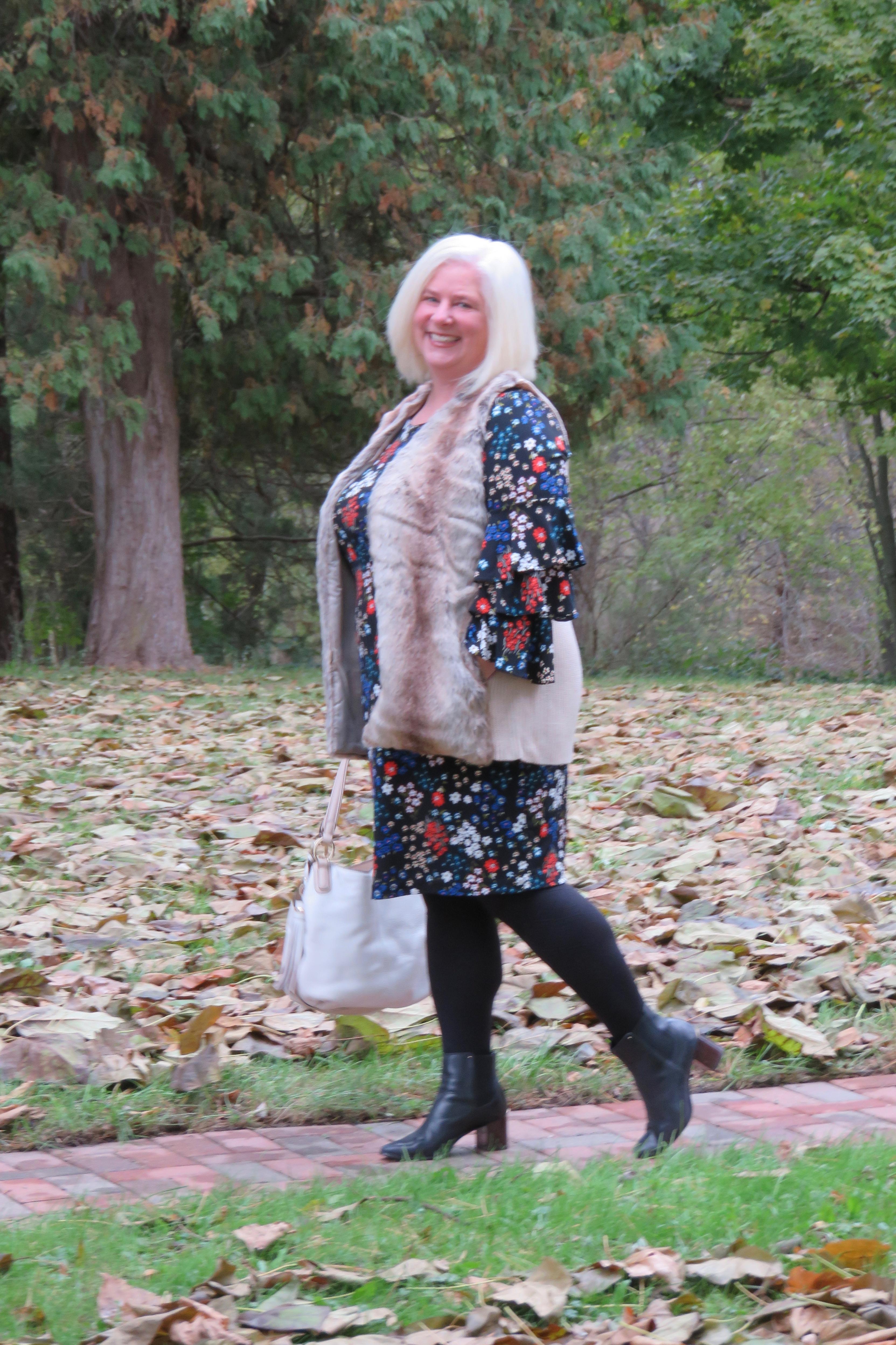 Julia {When the Girls Rule} Ageless Style Linkup Flower Power