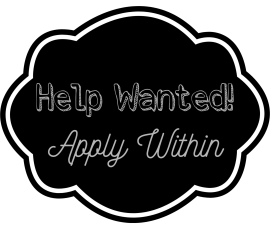 Help Wanted {living outside the stacks} Style Imitating Art