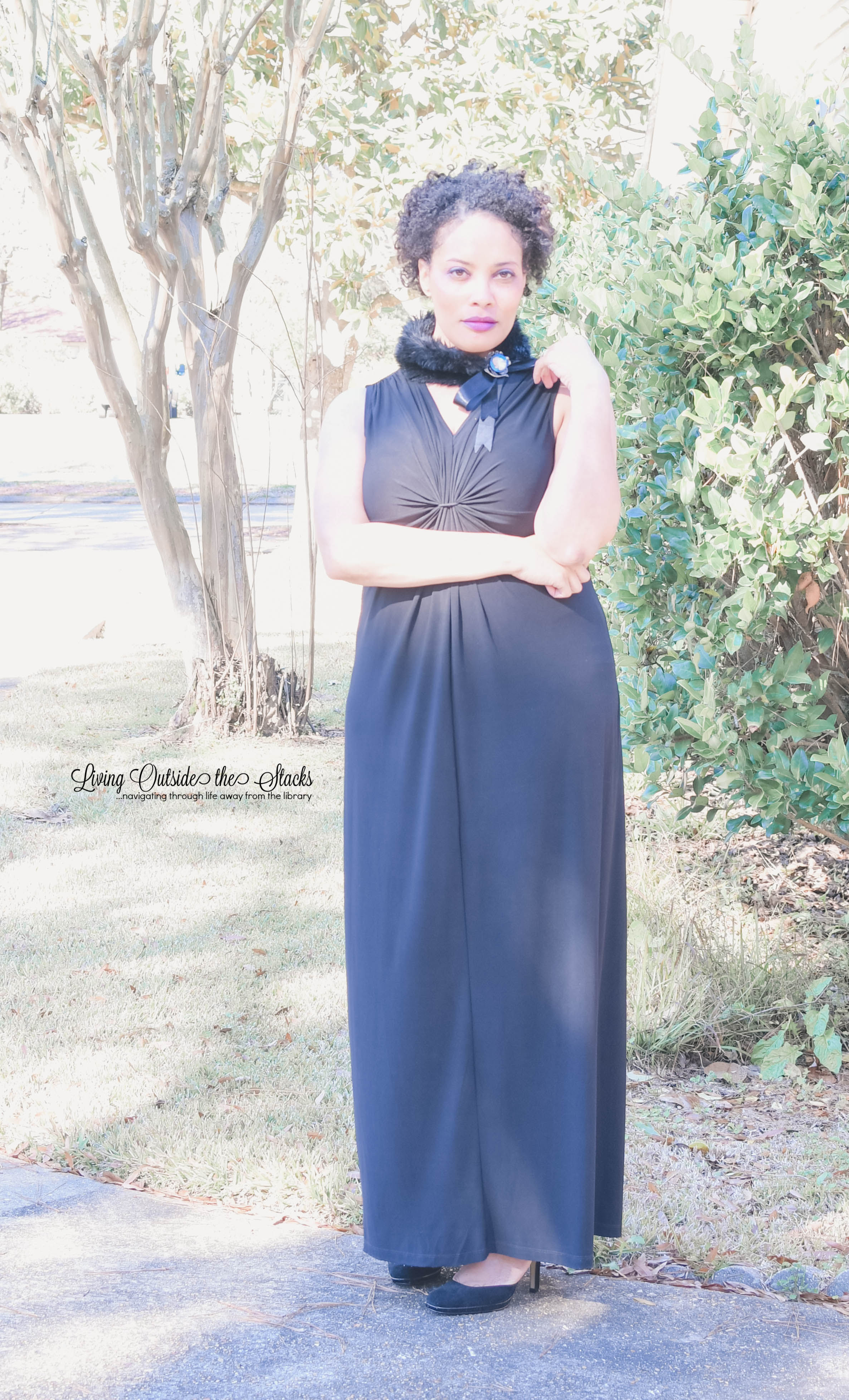Daenel T {living outside the stacks} Ageless Style Bloggers Faux Fur