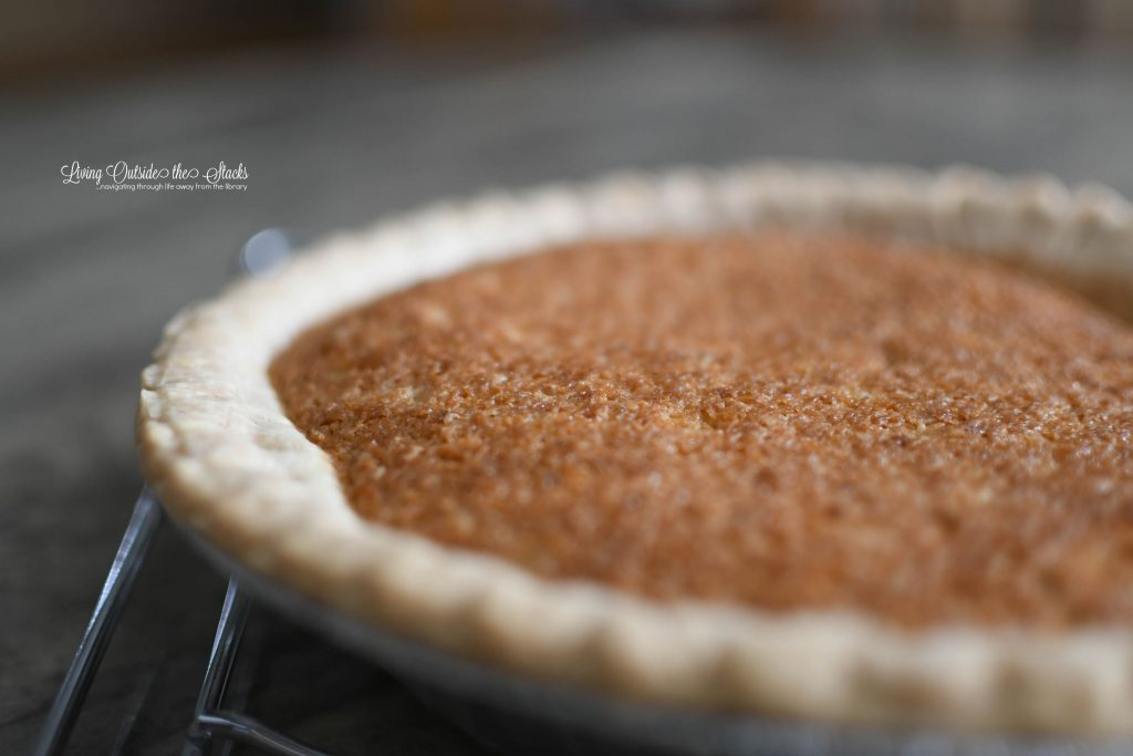 Maple Orange Walnut Pie {living outside the stacks} #coffeeandpiechat