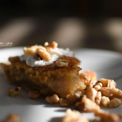 Maple Orange Walnut Pie {living outside the stacks} #coffeeandpiechat