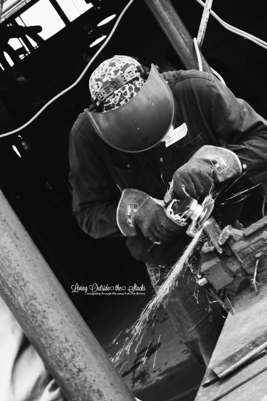 Welding {living outside the stacks}