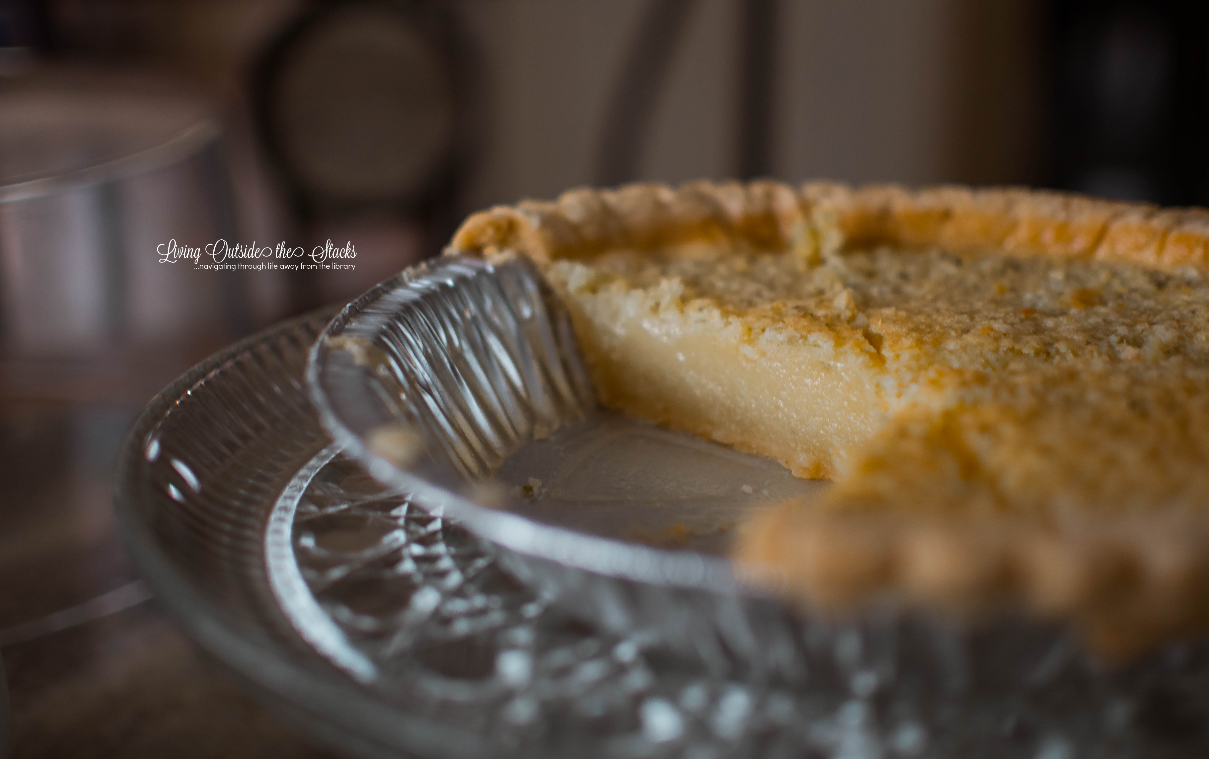 Lemon-Lime Chess Pie {living outside the stacks} #livingoutsidethestacks #coffeeandpiechat