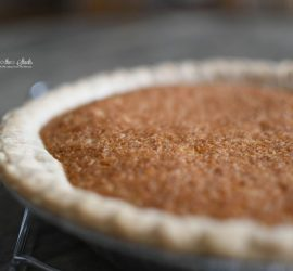 Maple Orange Walnut Pie {living outside the stacks}