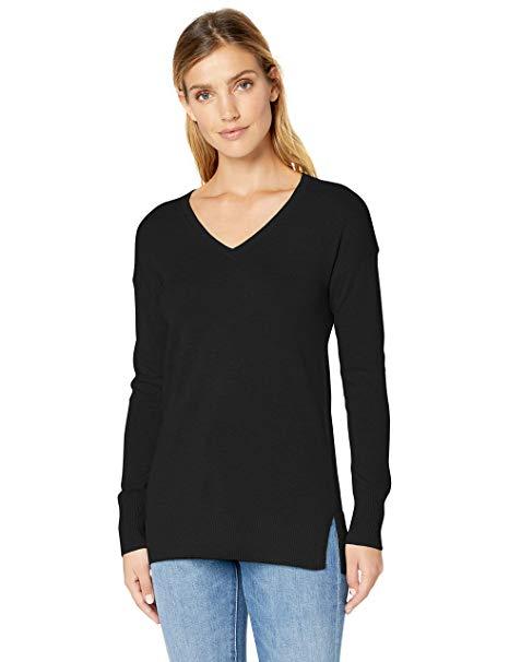 Amazon Essentials Women Lightweight V Neck Tunic Sweater {Amazon}