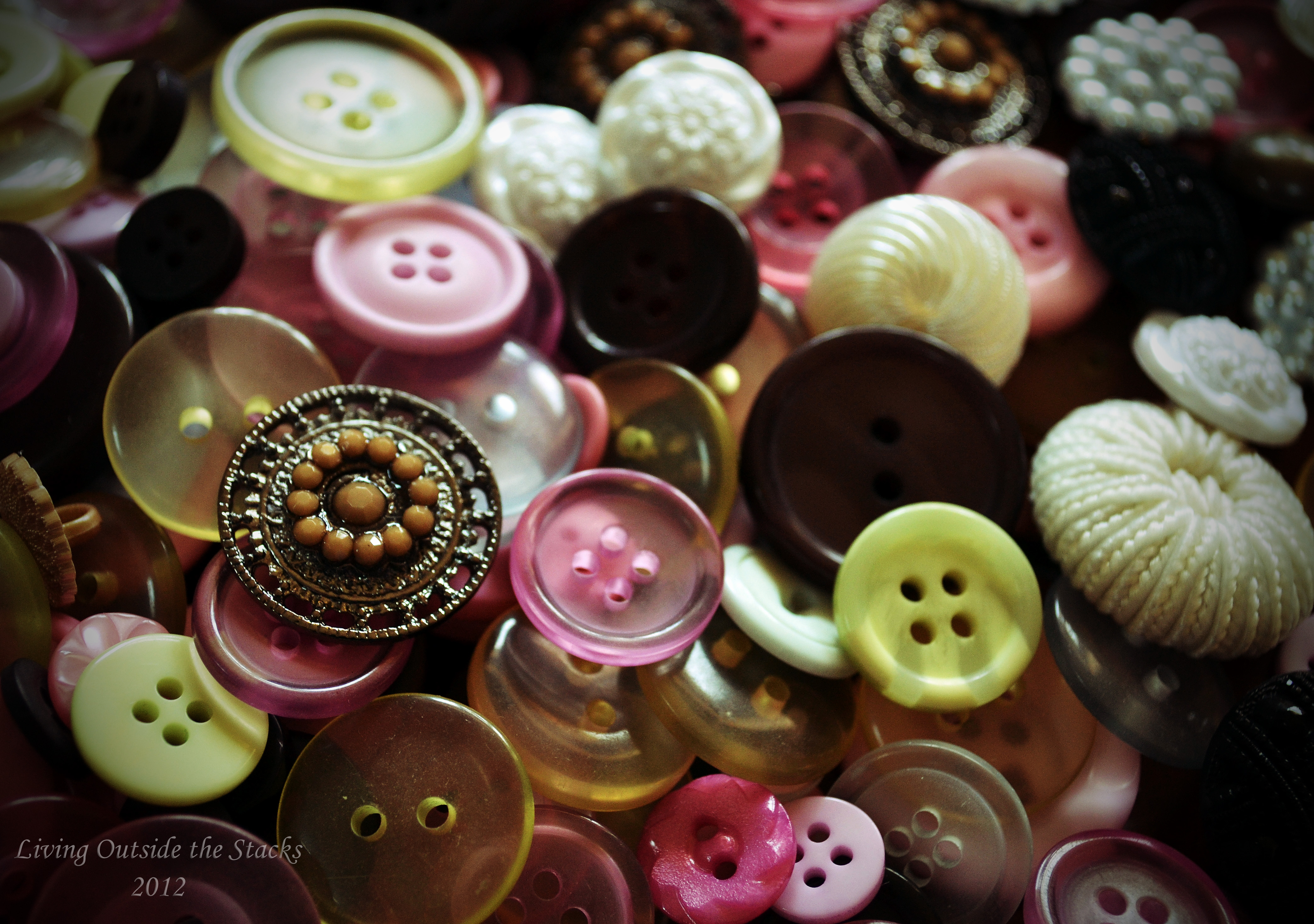 Buttons {living outside the stacks}