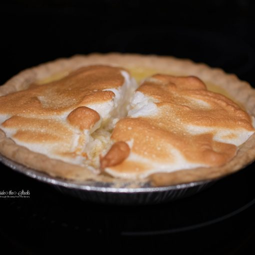 Lemon Meringue Pie {living outside the stacks} #CoffeeAndPieChat