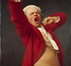 """Self portrait, yawning"" by Joseph Ducreux"