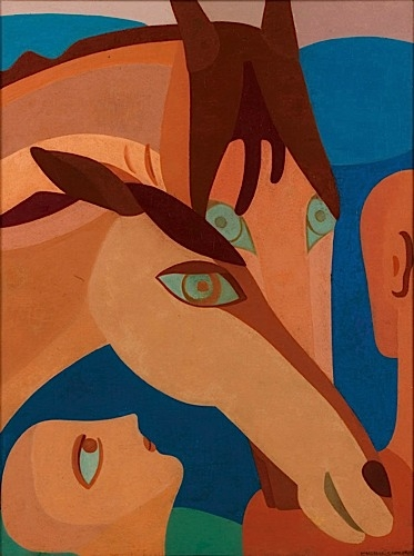 Personnages Aux Chevaux 1935 by Marcelle Cahn