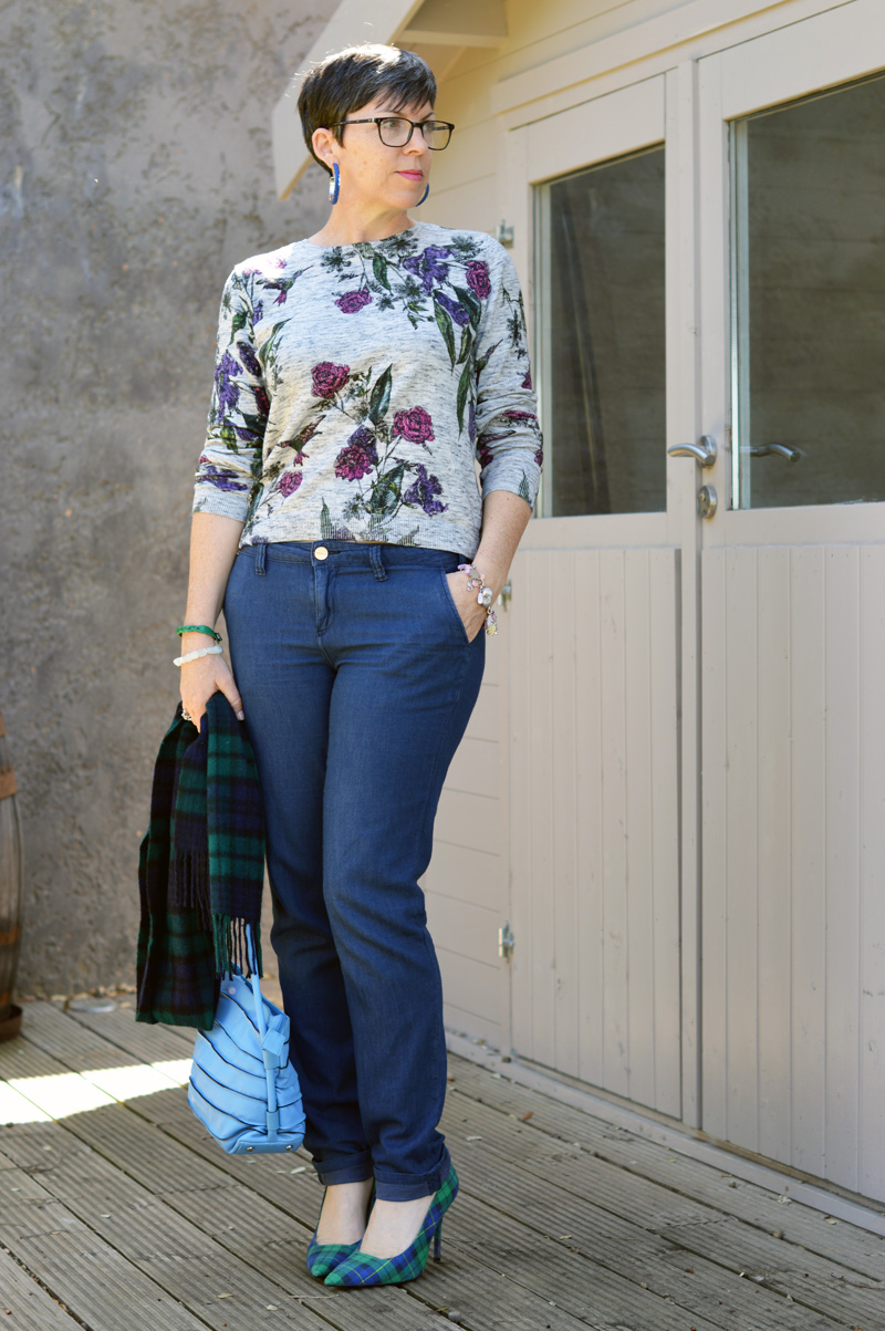 suzy {pixie chick in portugal} florals and plaids