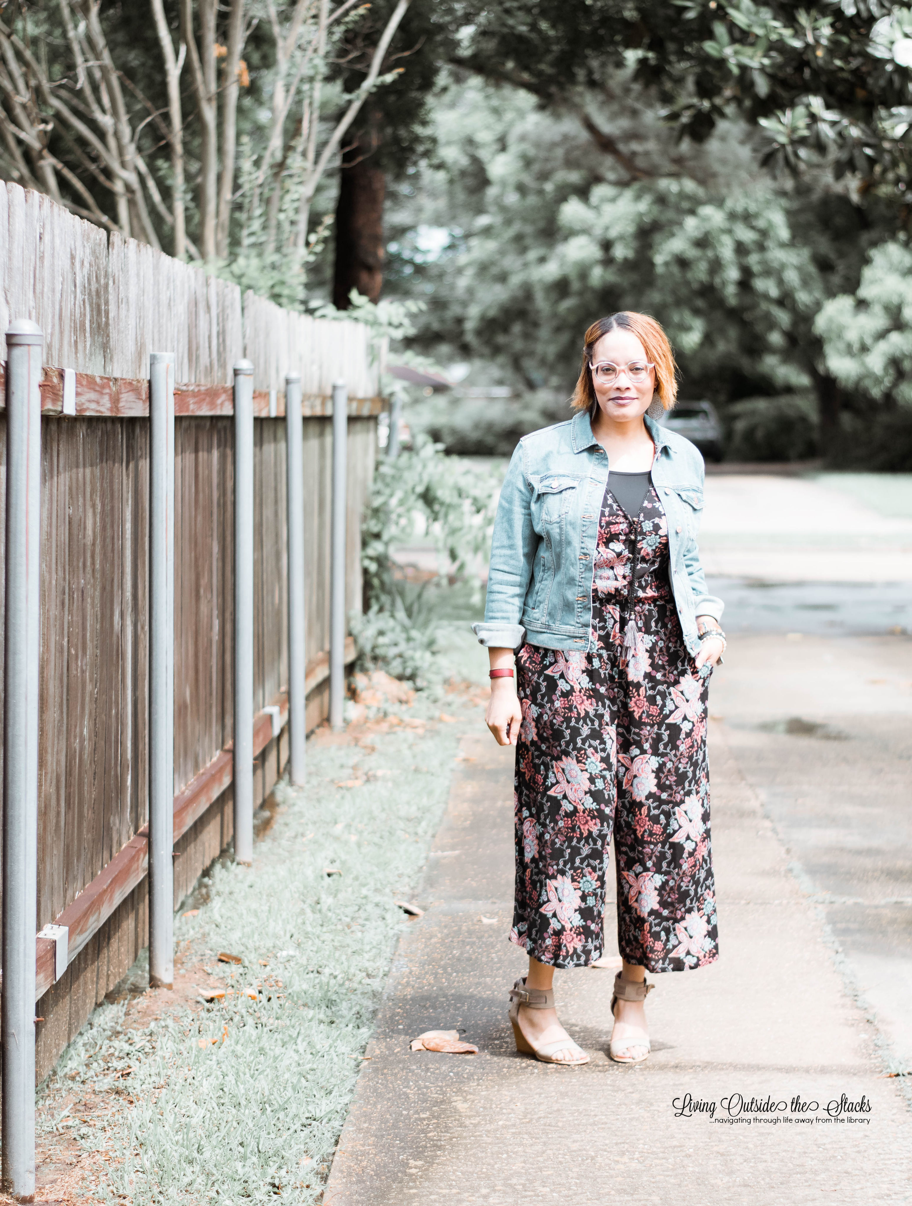 Floral Jumpsuit {living outside the stacks}