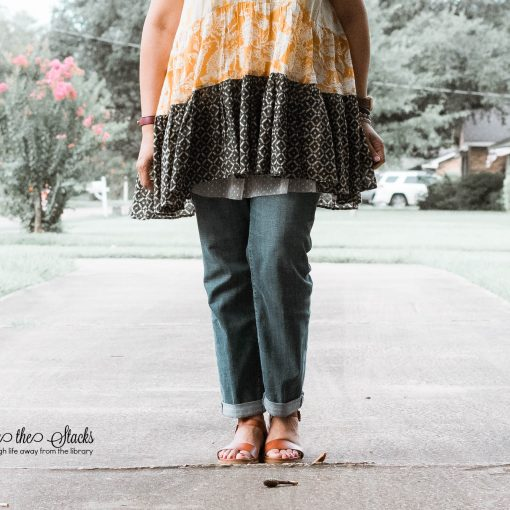 Daenel T {living outside the stacks} Free People Tunic Laurie Felt Weekender Jeans and Tan Sandals