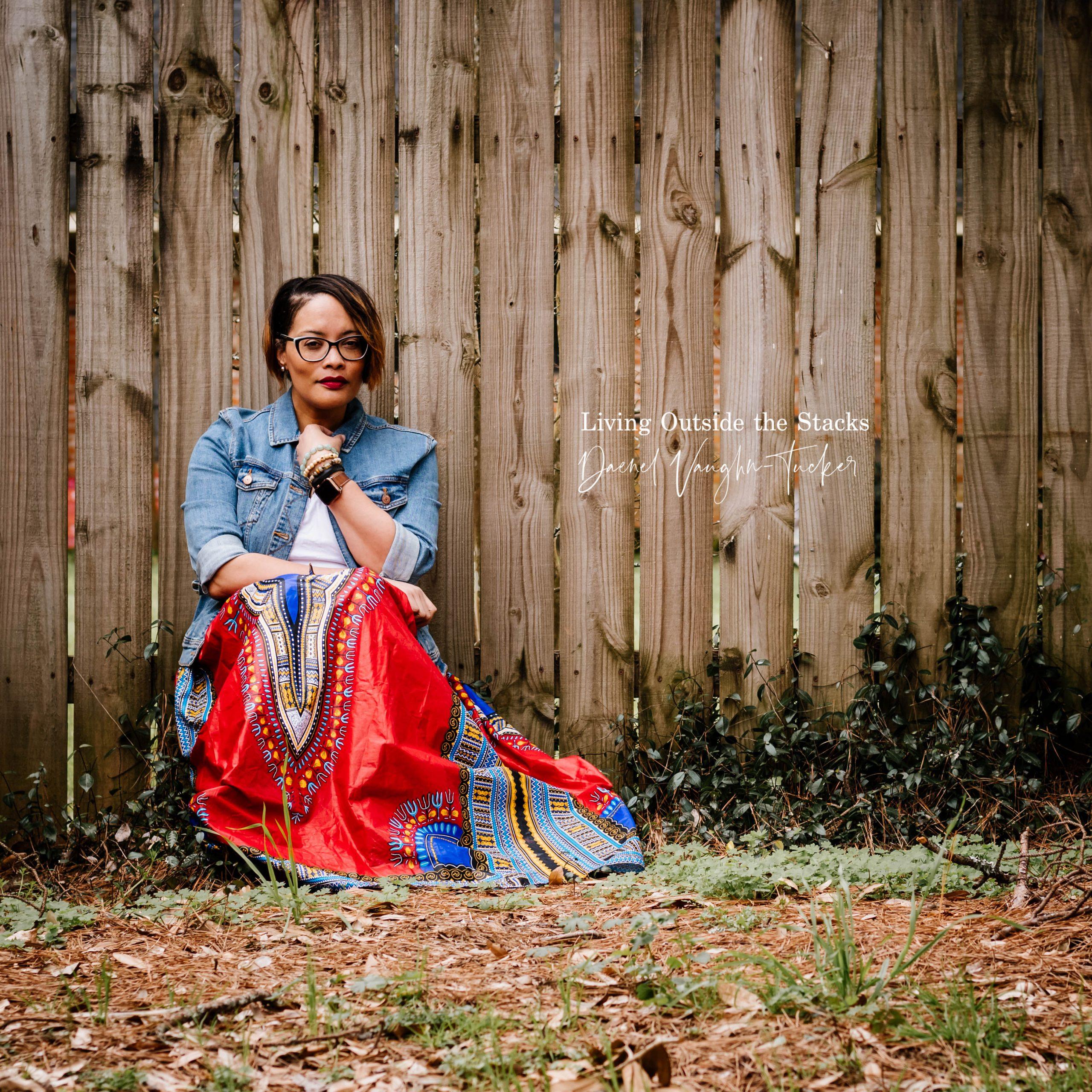 Denim Jacket White Tee Red Skirt {living outside the stacks} Daenel T