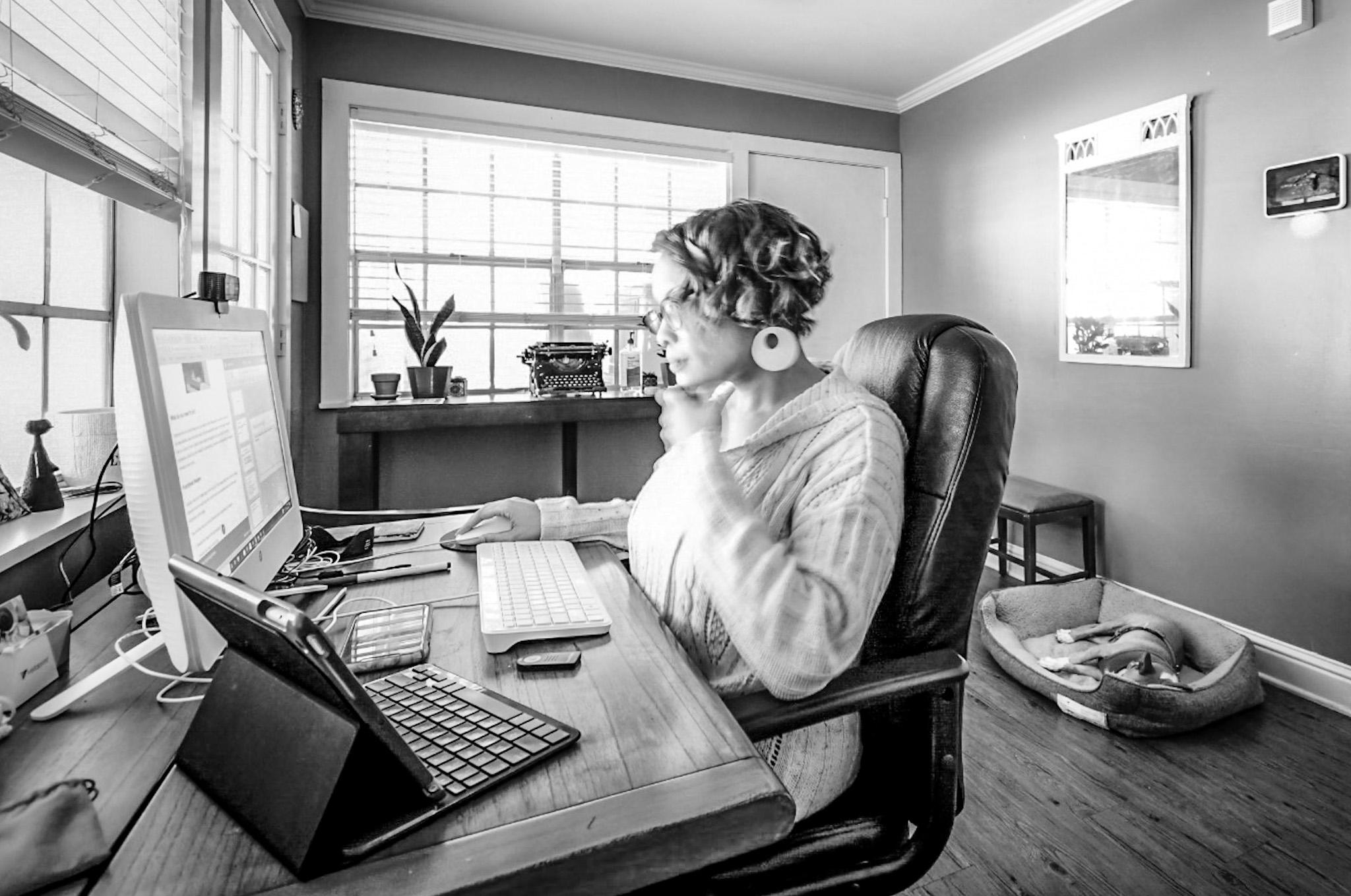 Daenel in Office {living outside the stacks}